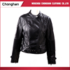 Chonghan High Quality Women Black Long Sleeve Spring Leather Jacket