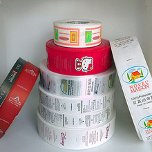 roll self adhesive plastic label printing,label printing machine roll sticker