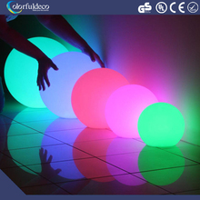 Remote control led flashing bouncing ball with multi-color lights plastic led pool balls sphere lighting