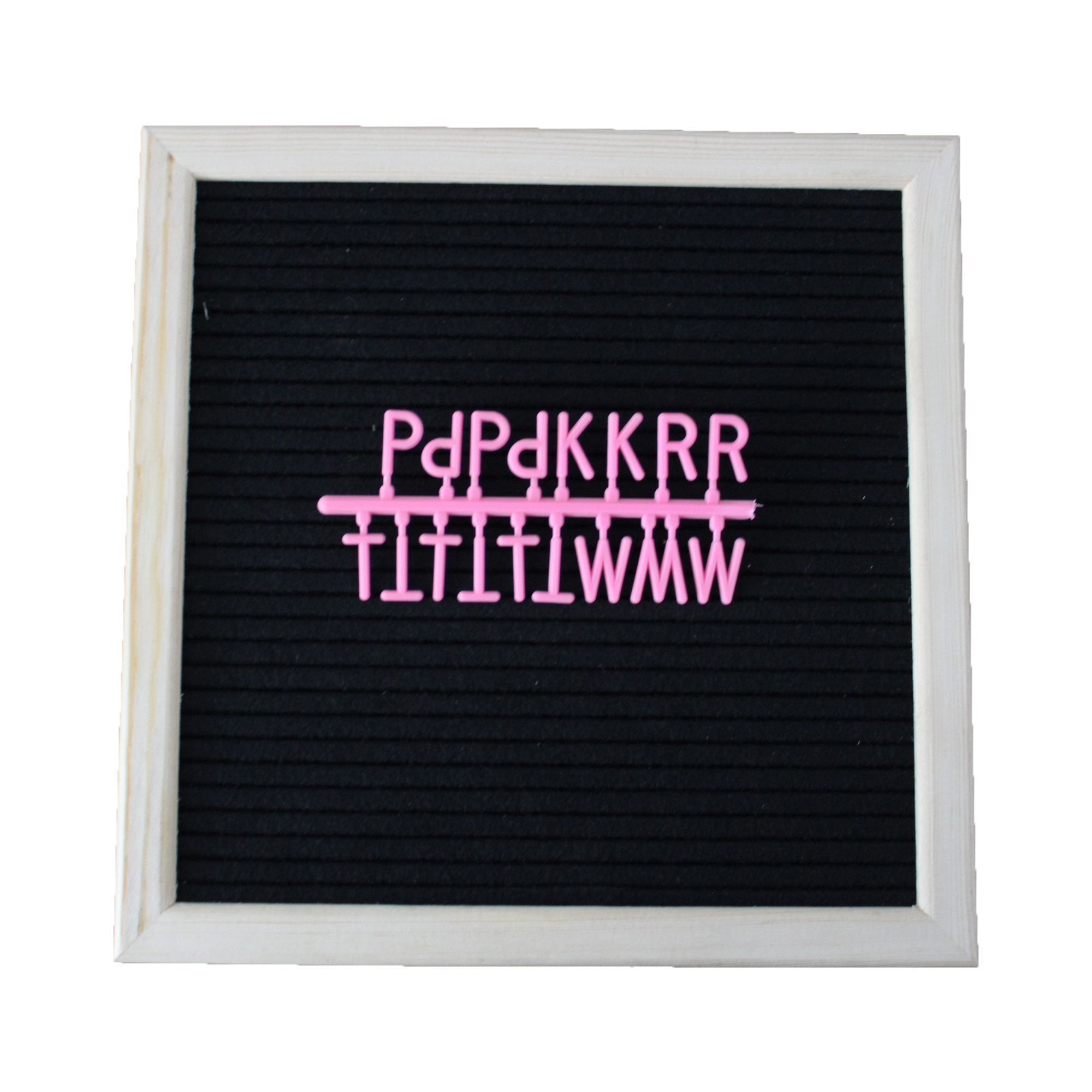 2019 hot sale 10 <strong>x10</strong> black changeable felt letter display board organizer