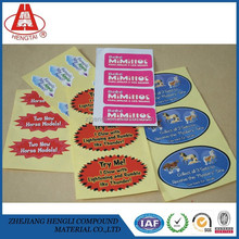 The High Quality Packaging Label Security Sticker Self Adhesive Material Printable/Garment/Wine Label