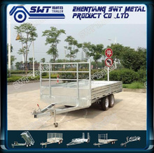 Drop deck cage box trailer