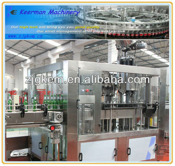 Glass bottle automatic beer filling equipment