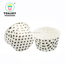 Black Round Dots Roll Mouth Paper Cake cup cake cases for baking tools