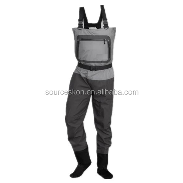 Breathable and waterproof chest waders/ fishing waders/ fishing suspender trousers
