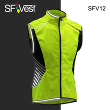Fashion Wholesale Yellow High Visibility Reflective Biking Cycling Clothing Breathable Wear Safety Vest for mans
