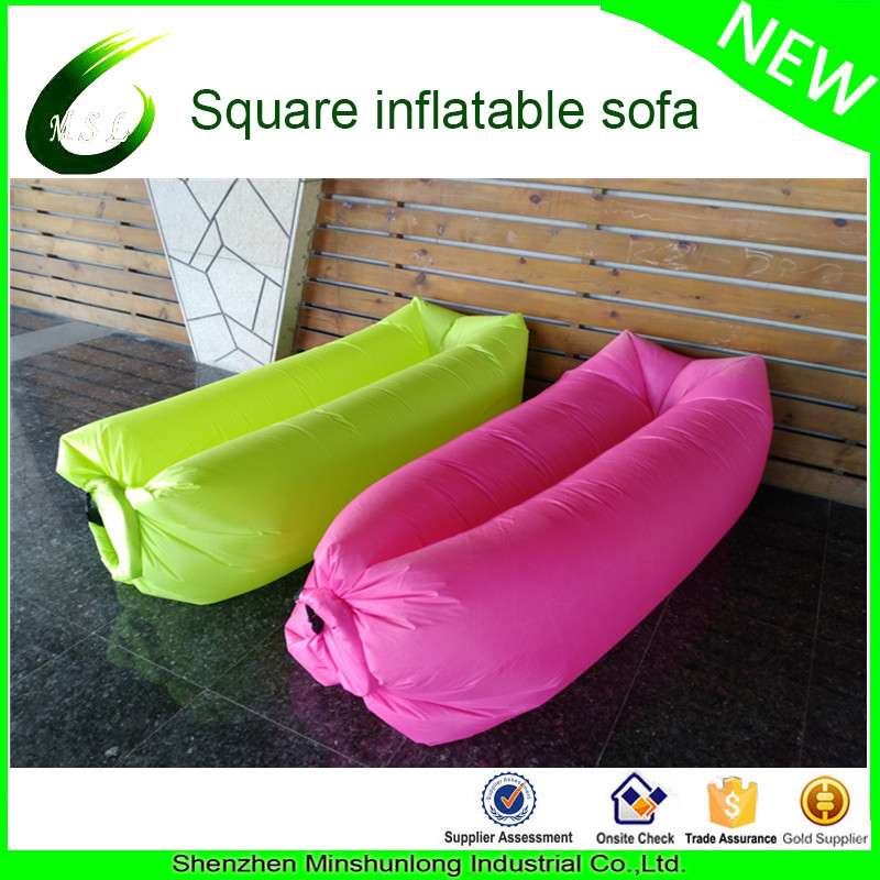 2017 Best Selling Products in USA Inflatable Lounger Nylon Fabric Beach Air sofa bed chair