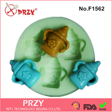 Model F1562 wholesale silicone teacup cupcake molds