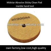 Midstar Abrasive Sticky Clean Pad Marble Hand Tool, sponge wheel