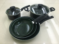 New Products/Aluminum Marble Coating Cookware Set