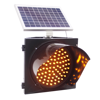 Arrow Road Sign Trailer with solar panel traffic light controller flash light