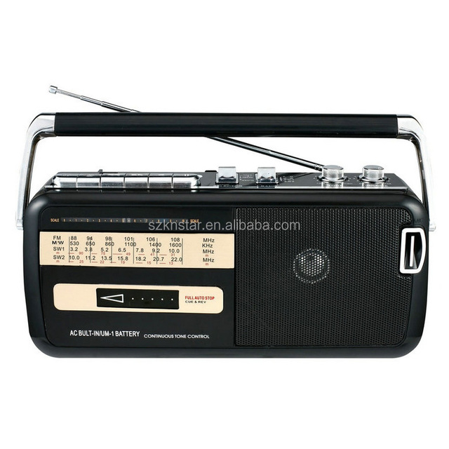 Knstar M50 AM FM Radio Cassette Recorder with USB SD
