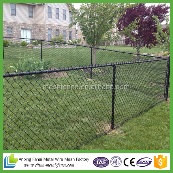 new premium decorative electro galvanized chain link fence
