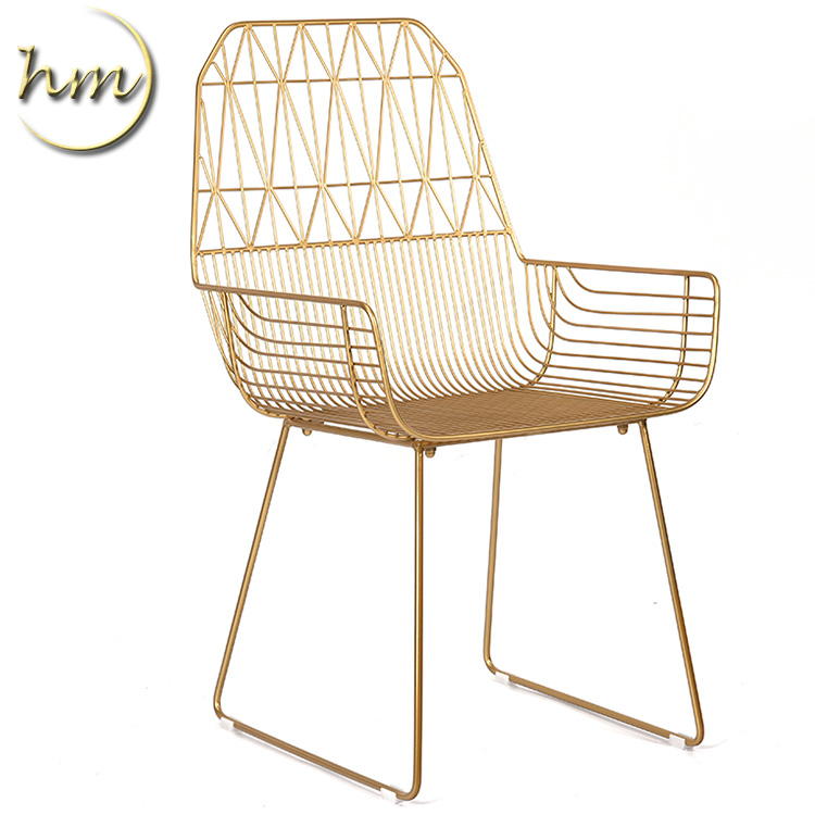 Modern <strong>design</strong> metal chair dining metal wire frame chairs