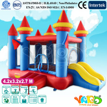 Home Use Blue Inflatable Bouncy Castle