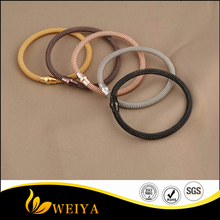 Top quality 316L stainless steel magnetic twisted cable mesh bracelet rose gold