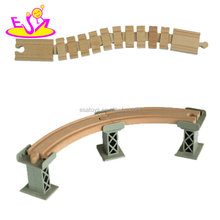 2018 New hottest children wooden railway train track expansion set toy compatible with all major train brands W04C146