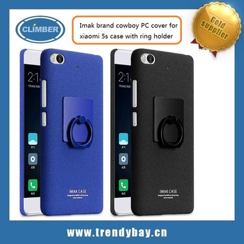 Imak brand cowboy PC cover for xiaomi 5s case with ring holder