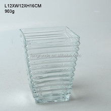 903g perfect shaped commendable nice decor Glass Flower Vase
