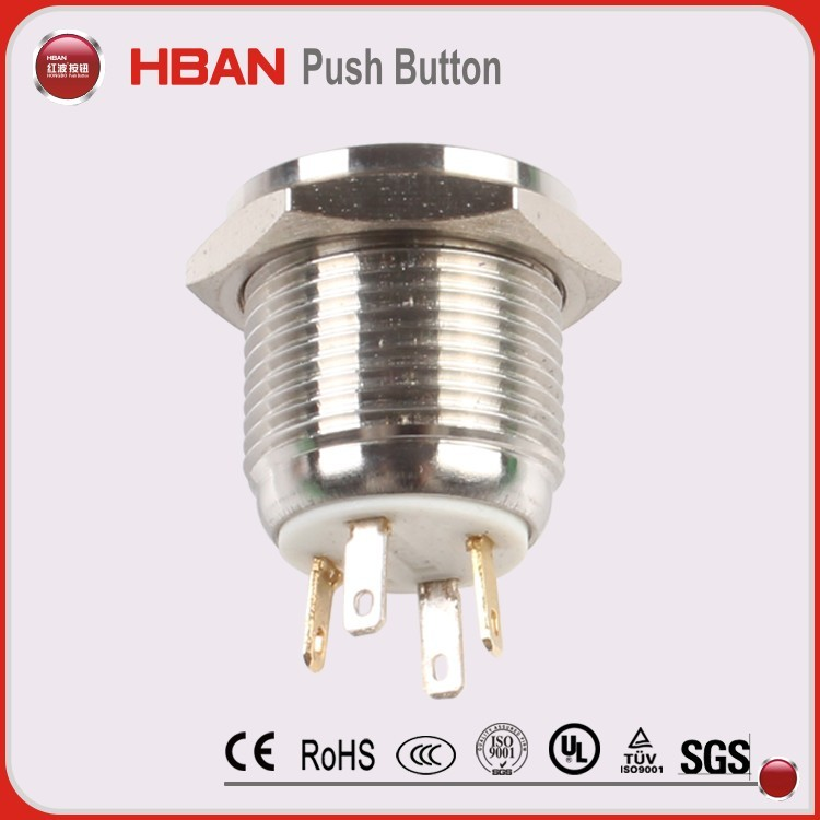 ul certified electric power switch illuminated 12mm 14mm 16mm on off push button latching momentary 5V led touch switch