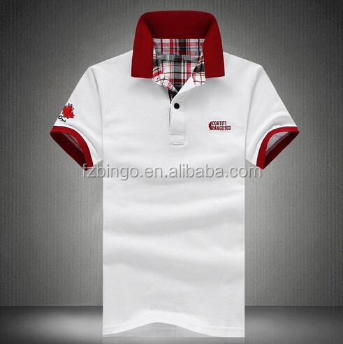 white custom polo t shirt