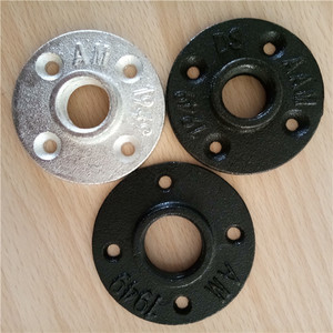 casting process and floor flange,pipe fitting type 1/2 cast iron black floor flange