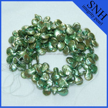 12-13mm green color coin pearls