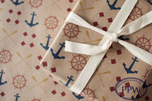 Kraft craft gift wrap paper anchor design wrapping paper