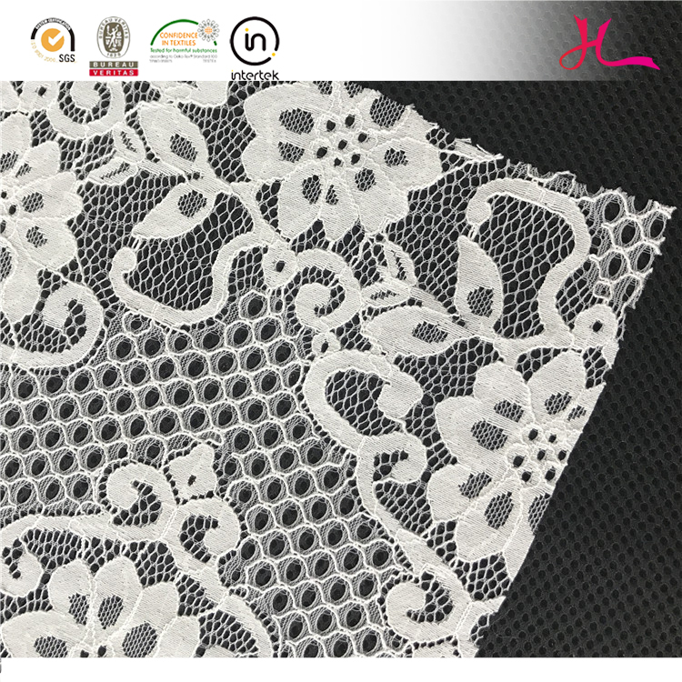 The new korean cotton nylon hollow out cord tulle lace fabric for dress material