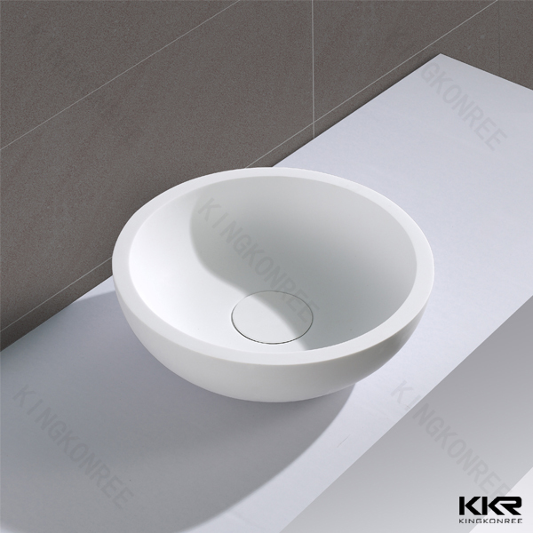 Artificial stone rectangular single bowl solid surface wash basin