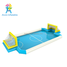 inflatable football arena, inflatable soccer filed game in inflatable pool with soap water