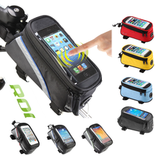 Wholesale Touchscreen Bike Bicycle Cycling Mobile Phone Bag Pannier Pouch Front Tube Frame for Iphone