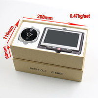 4.3inch hidden peephole camera digital door viewer / infrared door scope camera with motion detection & clear night vision