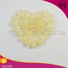Wholesale chiffon heart flower appliques for wedding dress WOR07