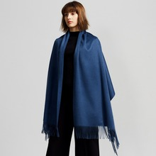High Quality Cashmere Poncho Shawl Oversized hand knitted shawl