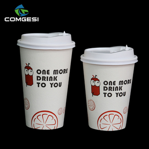 Fantastic manufacturer Food grade Style New Products flower letter logo Print to go coffee cups paper