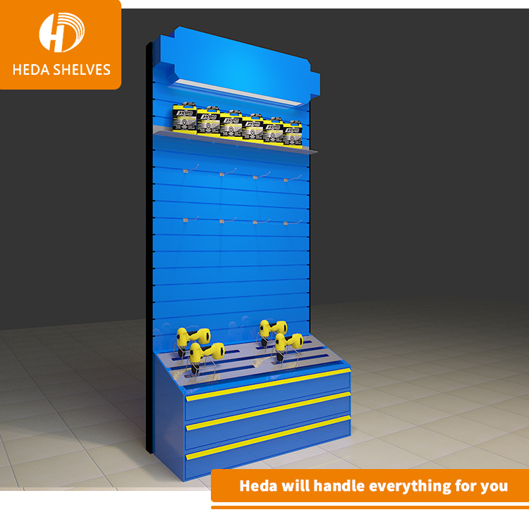 Customized Logo Metal Peg board Floor Shelf Rack Tools Exhibition Display <strong>Stand</strong>