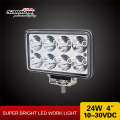 Sanmak light truck 24w led work lamp premium quality CE RoHS IP67 SGS TUV 4x4 work backup lights for truck