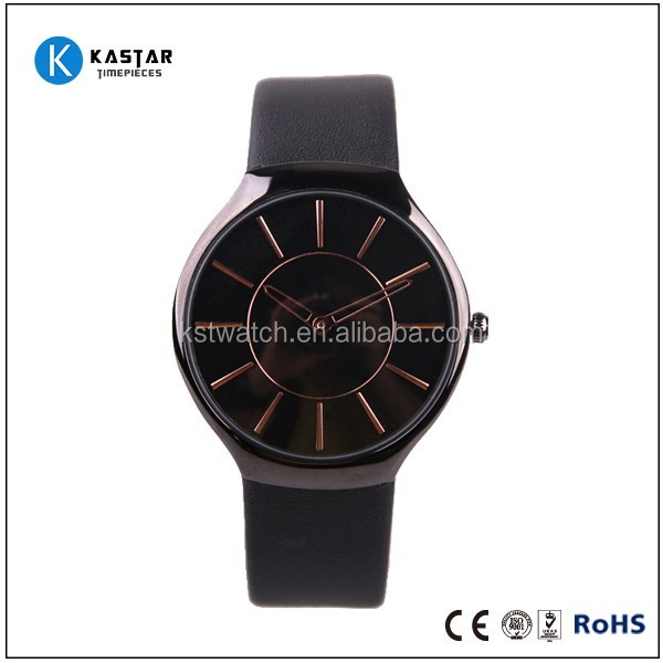 Novelty Alloy wrist man watch, genuine leather watch