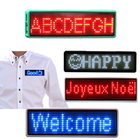 New 11*55 Rechargeable Programmable Scrolling Led Name Badge