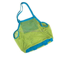 Mesh Tote Bags Sand Away Beach Bag for Children Kids Toys Starfish Shell Collect and Storage