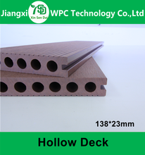 Guangzhou WPC Hollow WPC Plastic Wood Timer/ Outdoor Water Proof Decking Floor