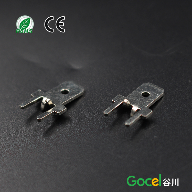 187 series circuit board soldering lug,four feet location male terminal,DJ611-4.8*0.5