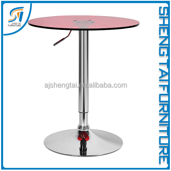 Modern new style round mini wood bar table for sale