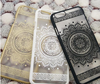 Hot Sale Hollow Painting Henna White Floral Paisley Mandala Flower Ultra Slim Soft TPU Phone Case Cover For iPhone 5/5s/6s/6plus