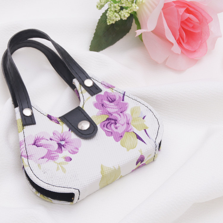 indian wedding favors wholesale purple flower pattern hand purse mini manicure set