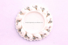 Wholesale fashion white Pendant Resin Base Setting,Bulk round inner size 25mm cabochon !!!