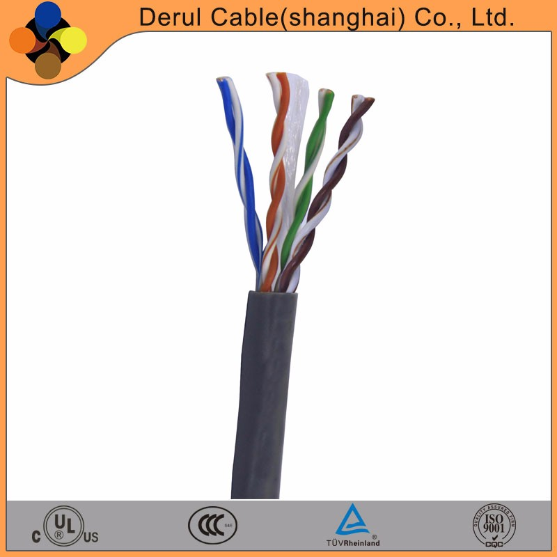 24AWG 4pairs fire resistant twisted multi core CAT5e network LAN Cable
