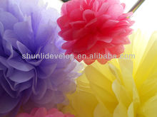 new design hangin paper flowers for wedding decoration in 2013