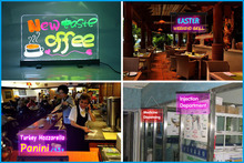 Portable free-standing led writing boards low price restaurant light board rewritable illuminated sign board